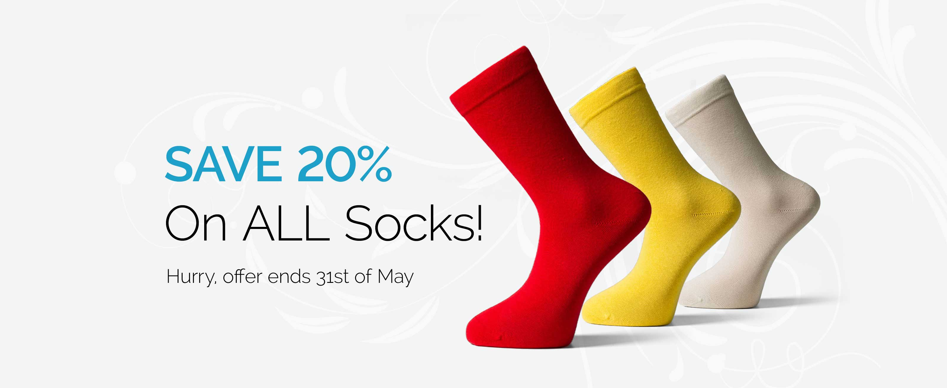 Save 20%_On ALL Socks!